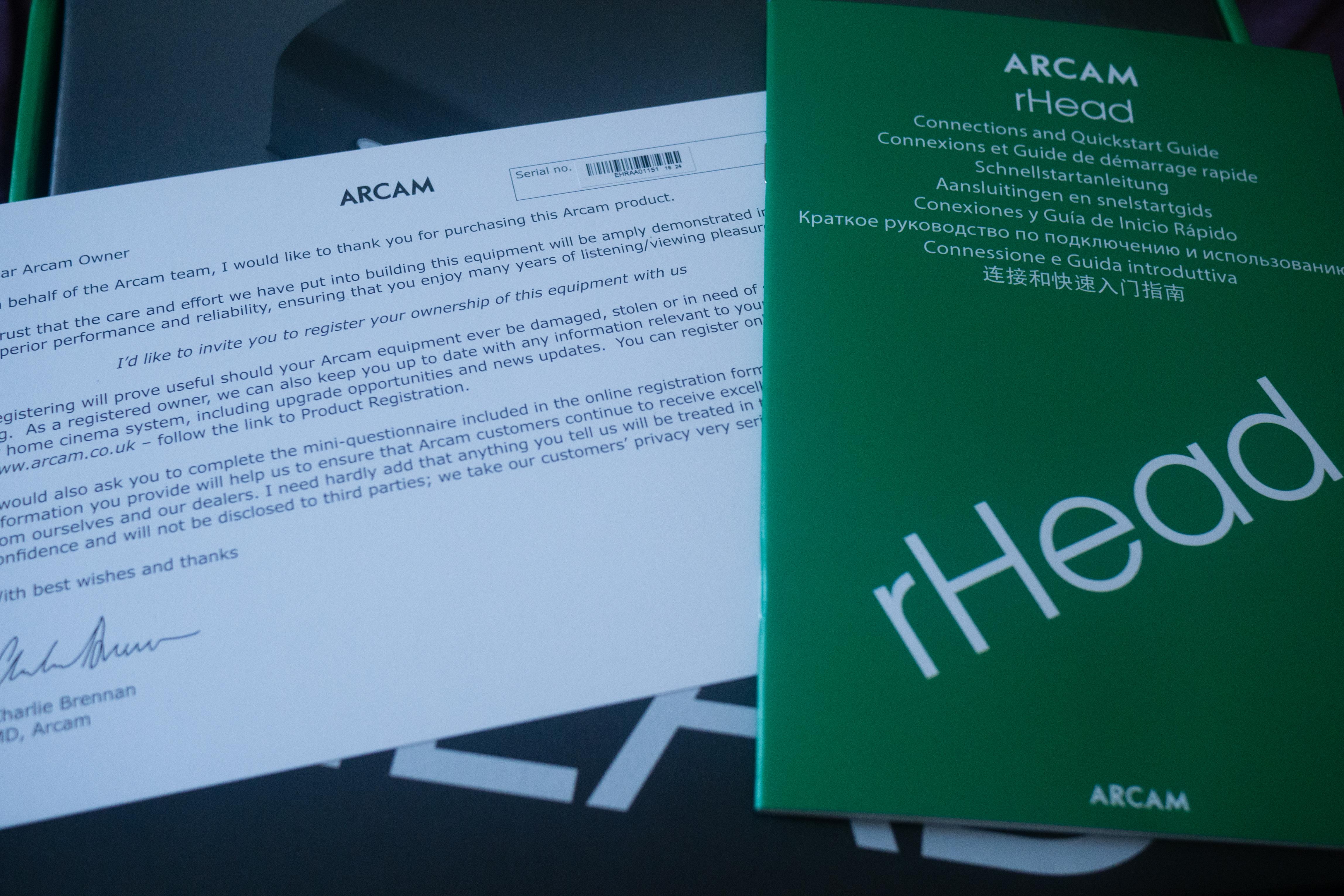 Arcam rHead - Discrete True-linear Class-A Analogue Headphone ...