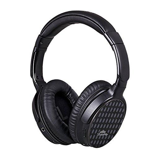 Over Ear Headphones,Mixcder ShareMe Pro Bluetooth 4.1 Stereo HiFi Sound Wireless Around-ear Headsets Professional Comfortable Rotatable Earbuds with M