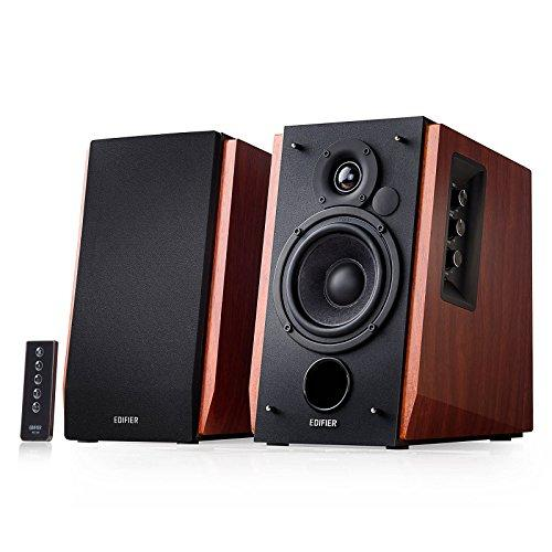 Edifier R1700BT Bluetooth Bookshelf Speakers - Active Near-field Studio Monitors - Powered Speakers 2.0 Setup Wooden Enclosure - 4 inch Subwoofer - 66