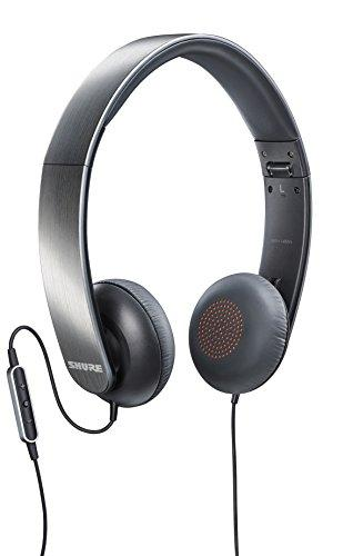 Shure SRH145m+ Portable Collapsible Headphones with Remote and Microphone Compatible with All Apple iOS Devices