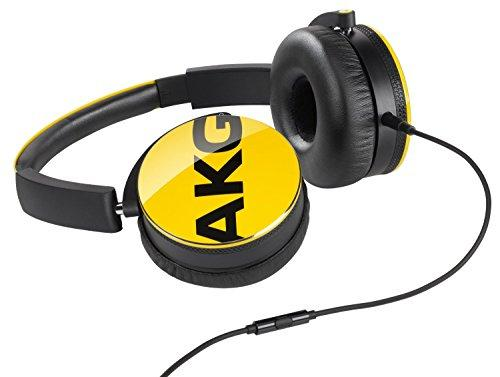 AKG Y50 Yellow On-Ear Headphone with In-Line One-Button Universal Remote/Microphone, Yellow