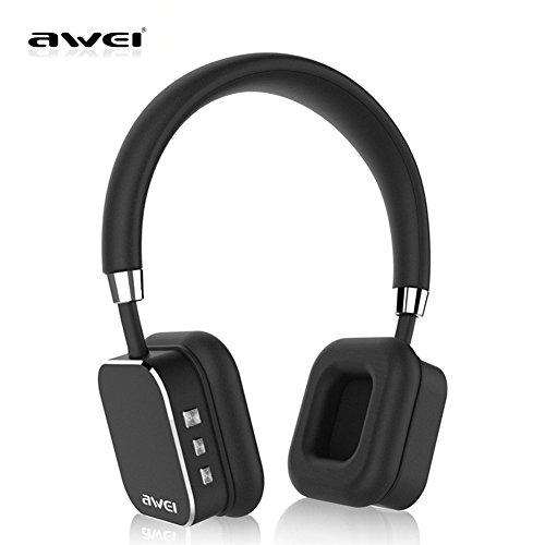 Awei A900BL Wireless Bluetooth Headphone Stereo Headset Noise Isolation for Smart Phone (Black)