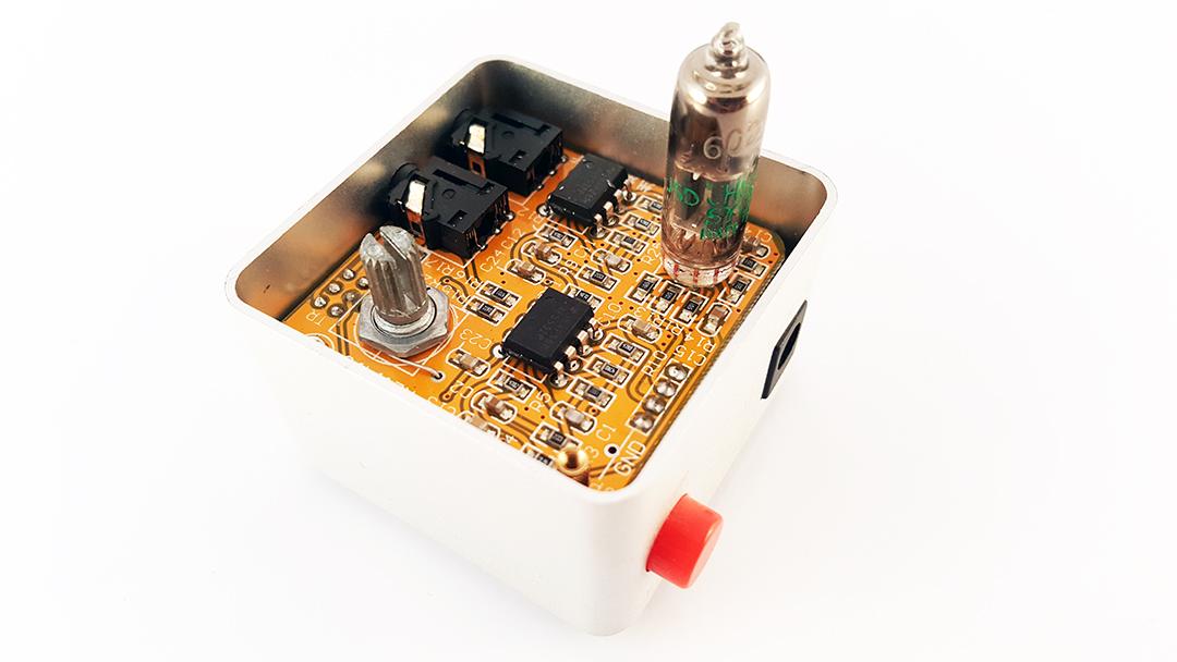 Nobsound NS-01E Mini Tube Headphone Amplifier Stereo HiFi Amp Audio