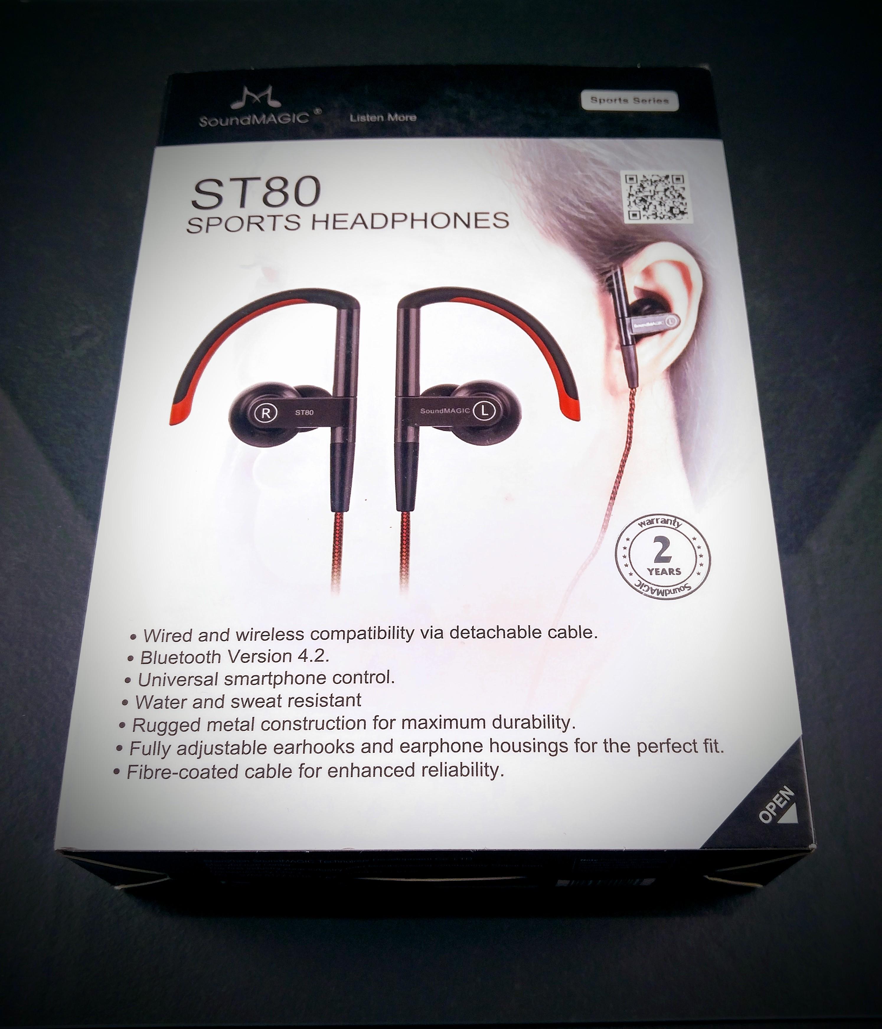 Soundmagic ST80 bluetooth earphone with modular wired/wireless ...
