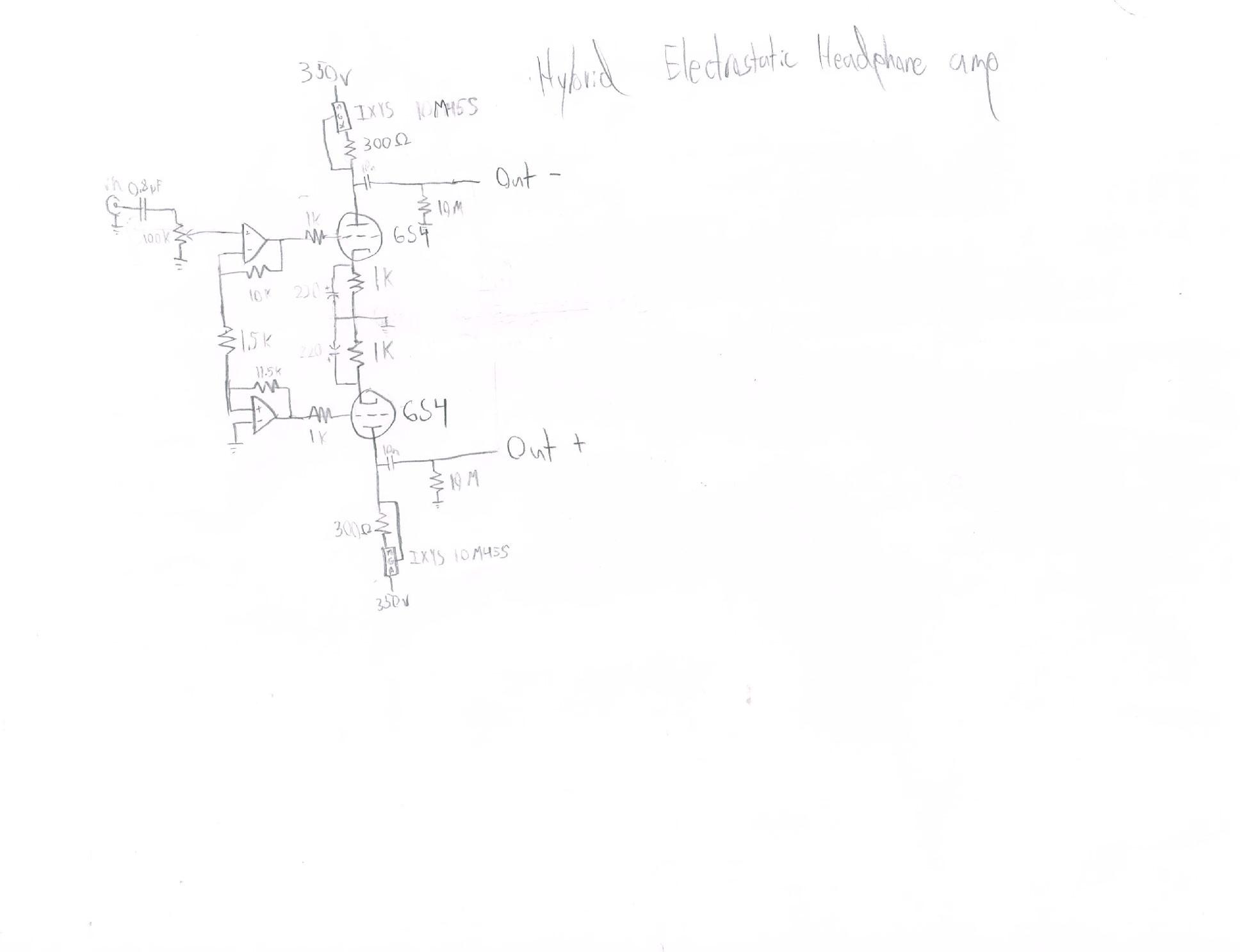 My Diy Electrostatic Headphones Page 166 Headphone Reviews And Highgainamplifier Amplifiercircuit Circuit Diagram Seekiccom Esheadampmk1