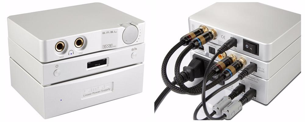 SMSL Stack: SMSL VA 2 amplifier + SMSL M8 DAC + SMSL P1 Linear