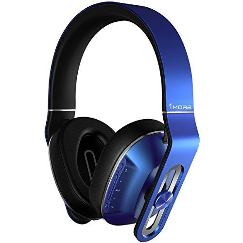 1MORE MK802 Bluetooth Wireless Over-Ear Headphones with Apple iOS and Android Compatible Microphone and Remote (Blue)