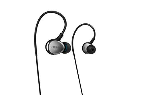 Edifier P281 Sweatproof Dustproof Sporty In-Ear Earphones IP57 Rated Headphones - Black/Silver
