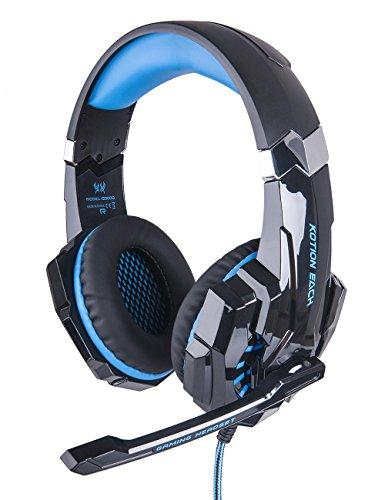 DuaFire Shock Stereo Sound Gaming Headset 3.5mm with Earphone and Microphone for the PS4, Super Cool Over Ear Headphones Mic for Laptop, Video Chat, C