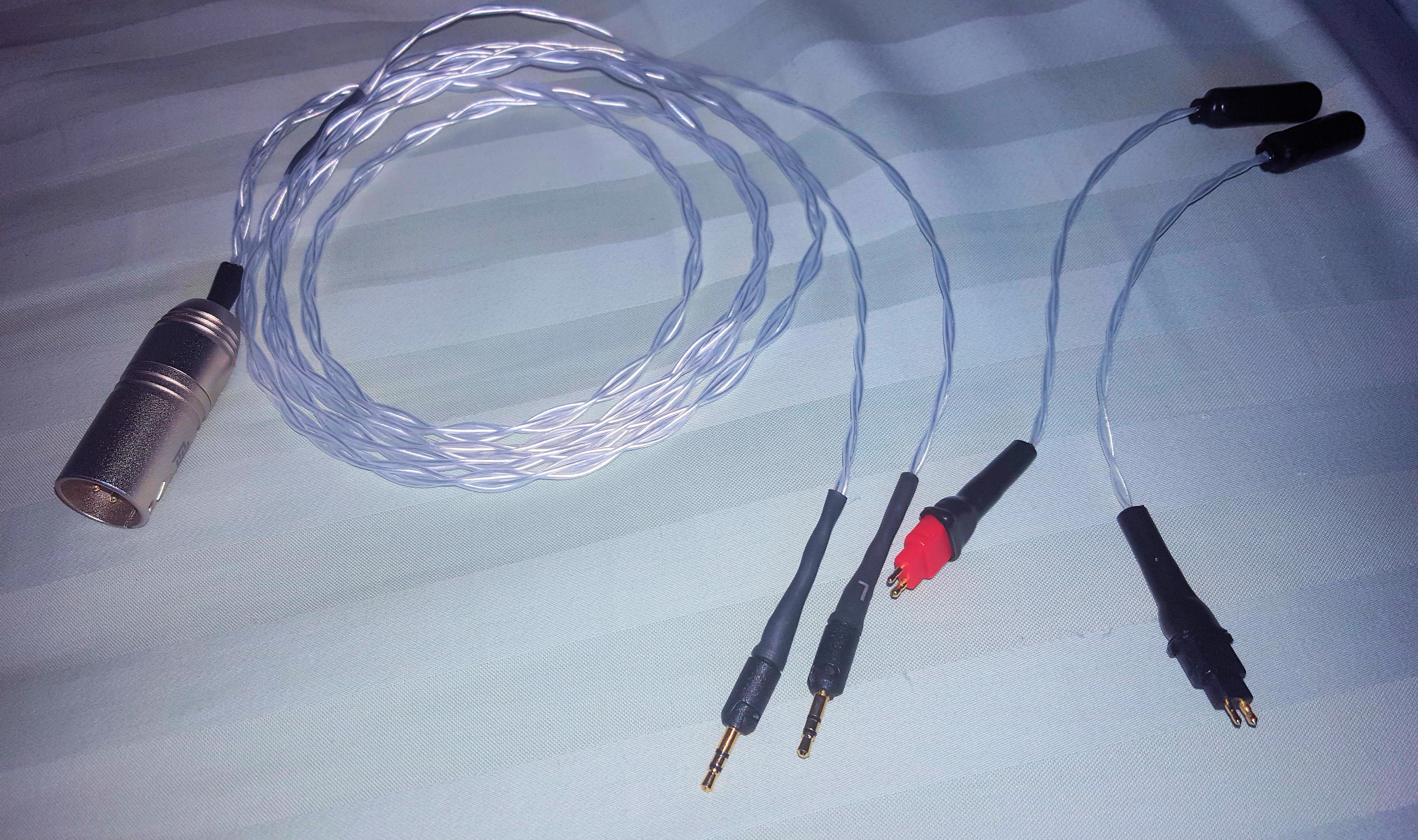 OCC silver plated copper wire for HD600, HD650 or ATH R70x (balanced ...