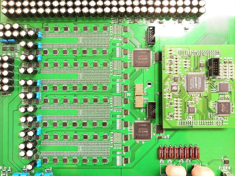 DENAFRIPS 'ARES' R2R discrete ladder DAC - close up view