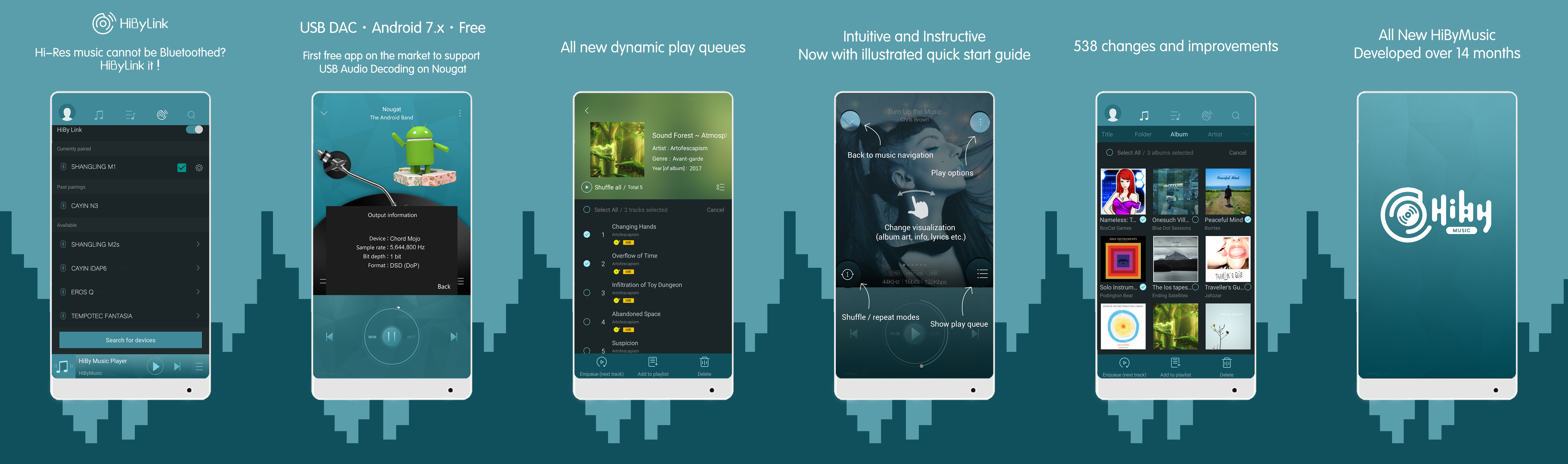 HibyMusic Android and iOS Music Player - Bit-perfect USB