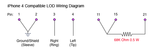 iPhone 4 Compatible LOD Wiring Diagram