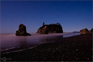Stargazing -  Ruby Beach somewhere in the Pacific Northwest