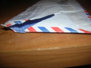 Hey Chen, The letter arrived today but nothing was in it. the letter was ripped open on the top...