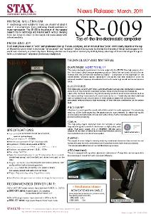 Stax SR-009 News Release English