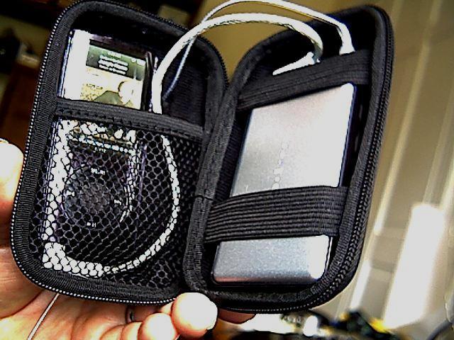 BioLinks case loaded w/IEMs, iPod & NuForce Icon Mobile