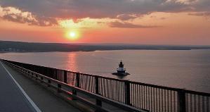 Sunset from the Pell Bridge in Jamestown, RI