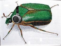 Junebug beetle + Stax SR009 = :)