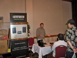 Michael Goodman president and designer of CEntrance DACs came out from Chicago for the event....