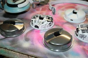 chrome painted headphone bits