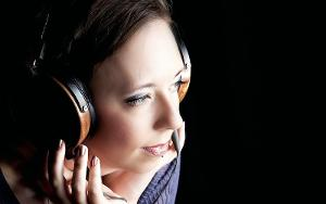 My new wife wearing my LCD-2's. :D