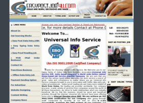 "An ISO 9001:2008 Certified ""Universal Info Service™ ""Presents Easy Data Typing, Easy ad posting,..."