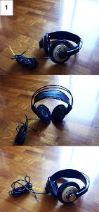 Needs jack / rewire Needs earpads Elastics broken  Left side metal plate missing / Right...