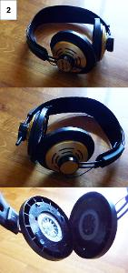 Needs a new wire Needs earpads Elastics broken Left metal plate with text / Right metal plate...