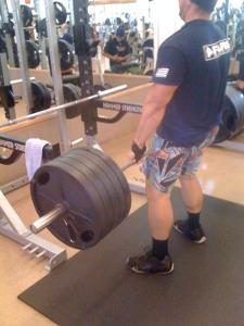 Dead lifting 500lbs.