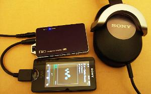 Sony NWZ-X100 > FiiO L5 Line Out Dock Cable > FiiO E11 > Sony MDR-ZX700