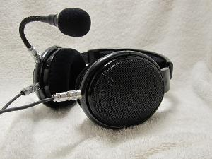 HD580s with hd650 drivers.  Modded these to use push pull connectors and added mic. Handmade y...