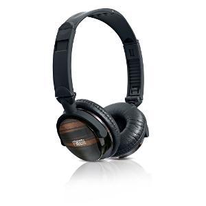ESmooth ES-821EB Ebony wood Headphone in high gloss finish.