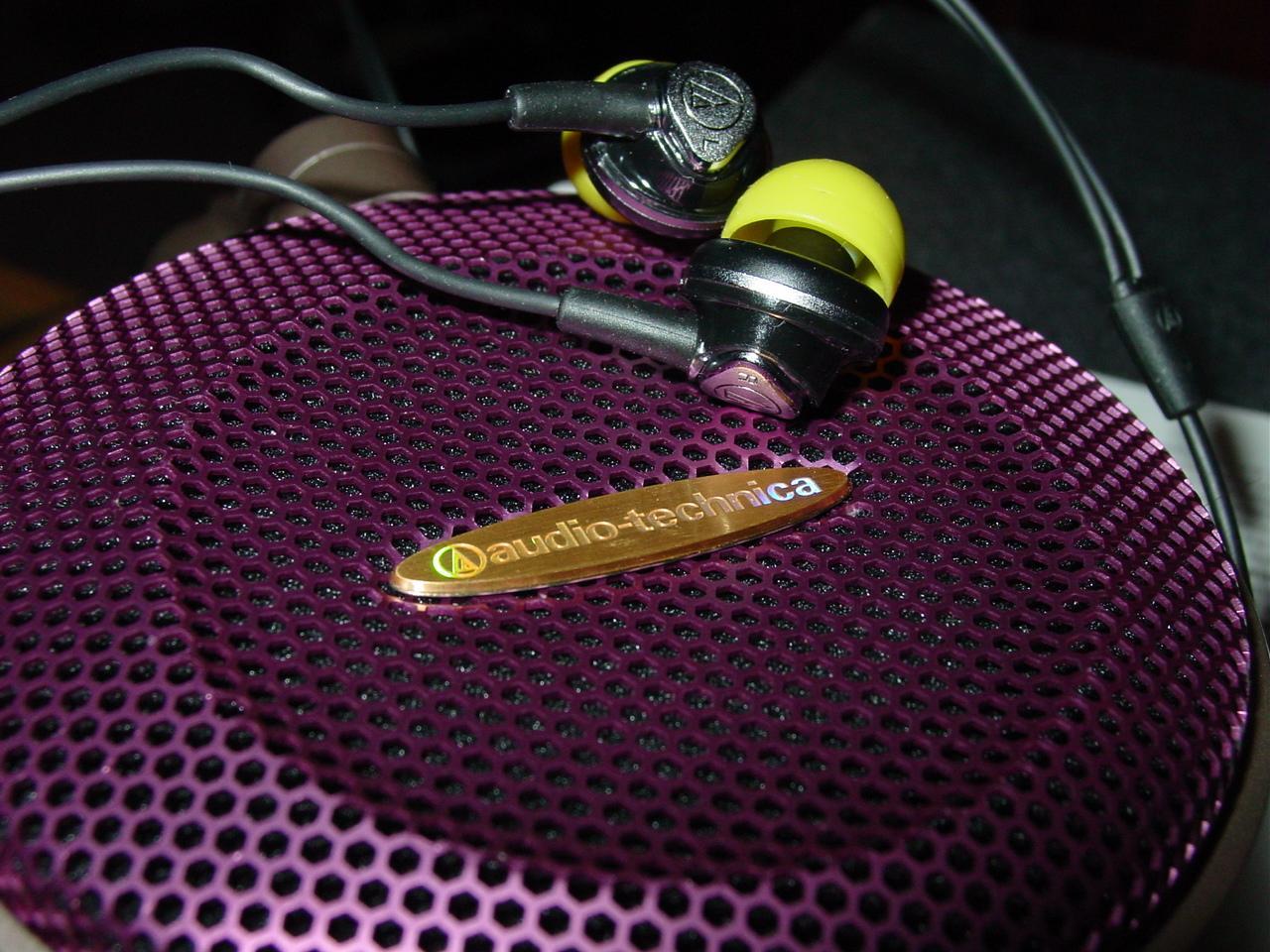 Audio Technica Pron.....ATH-CKM50 snuggling with the ATH-AD700