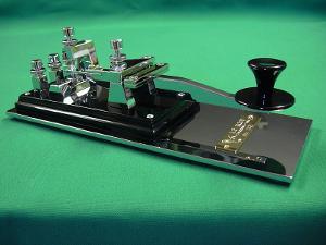 A custom made Swedish Pump Morse Key by Alberto, I1QOD. My key is #29.