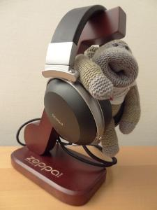 My lil Chimp with the Denon AH-D2000's!