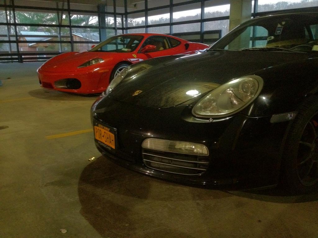 My Porsche and F430.