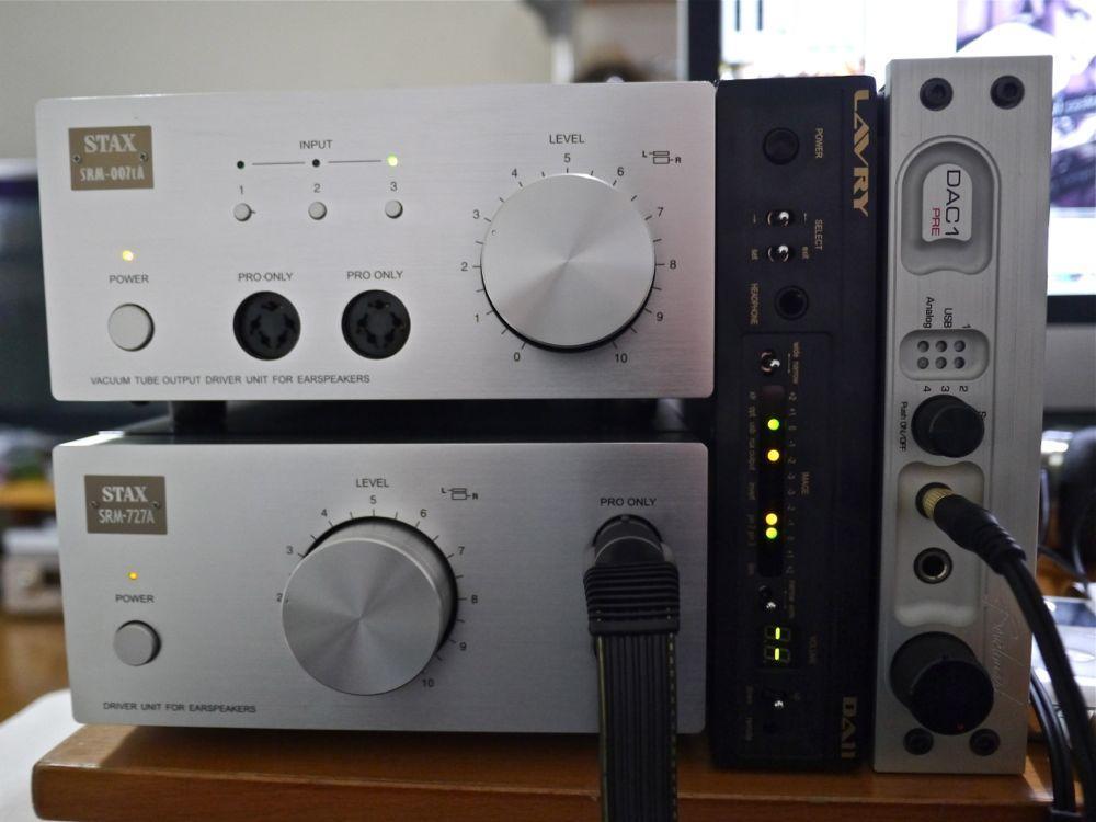 Stax SRM-007tA<br /> Stax SRM-727A<br /> Lavry DA11<br /> Benchmark DAC1 Pre
