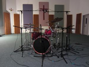 Tracking drums for an EP. This building was originally used as a recording studio, then became a...