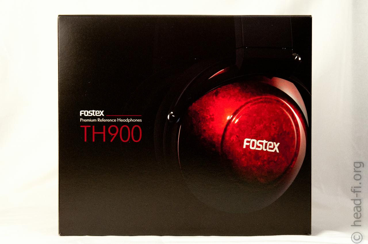 This is the front of the Fostex TH900's product box.