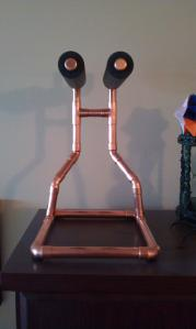 Copper Headphone Stand Front View