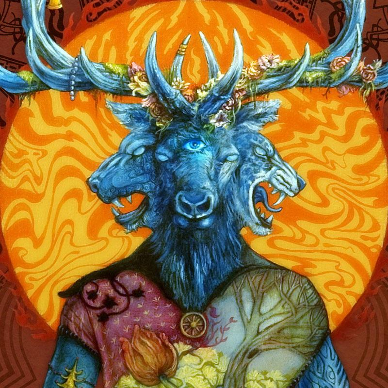 "Cover of Mastodon's ""Blood mountain"" (detail)."
