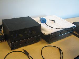 funch's Mod'ed Sony555ES CD player, Bijou tube amp