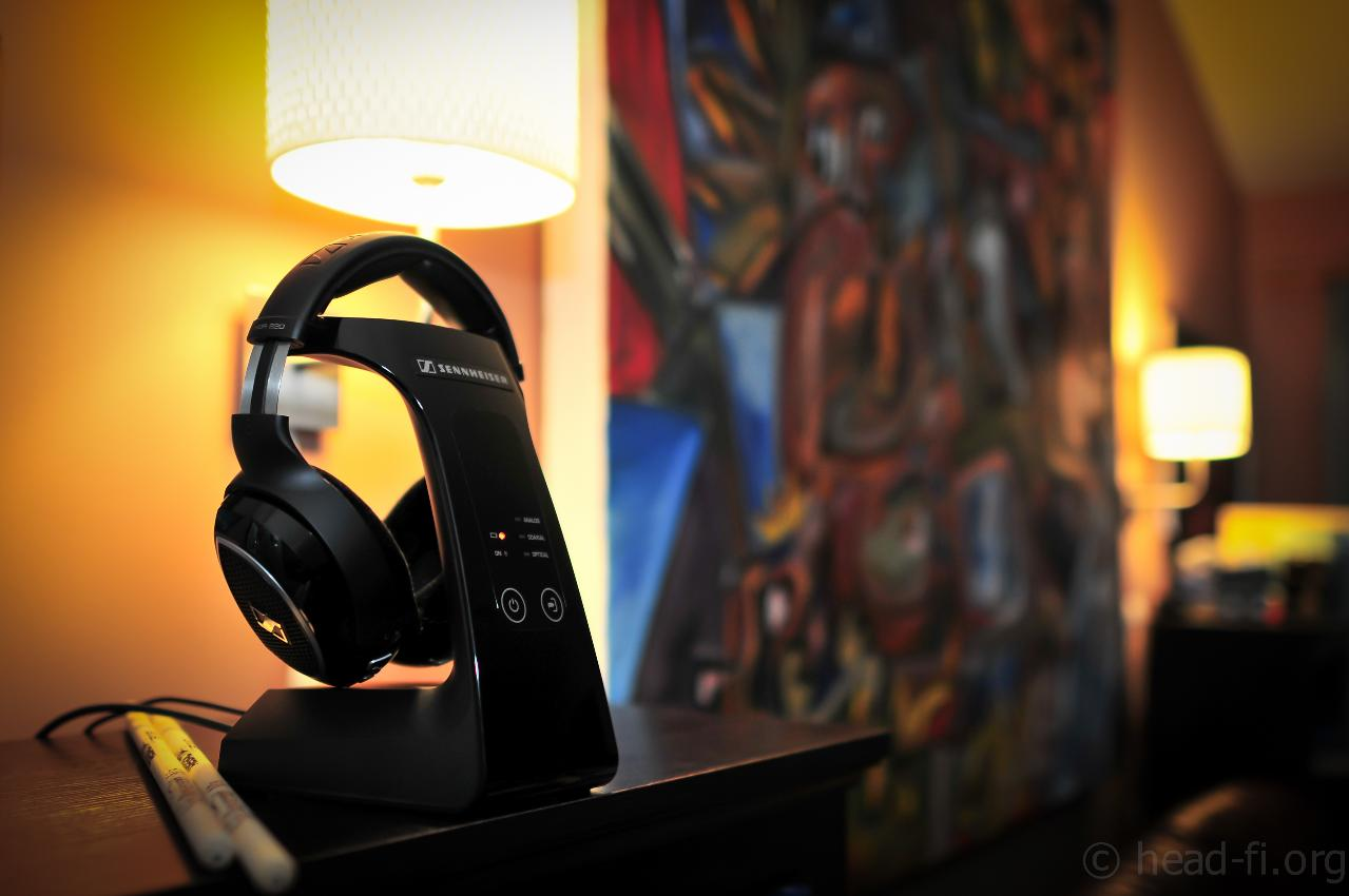 """Sennheiser RS 220 in my living room rig, which consists of a MacBook Air (2011 13""""), Fostex..."""