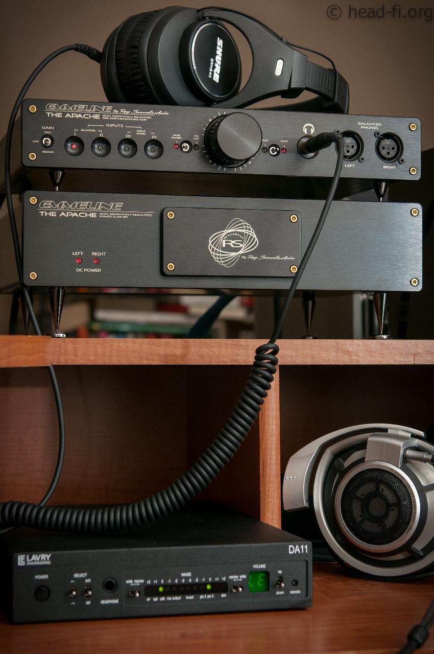 Ray Samuels Audio Apache. Also in the photo: Lavry DA11 DAC, Shure SRH840 headphone, Sennheiser...