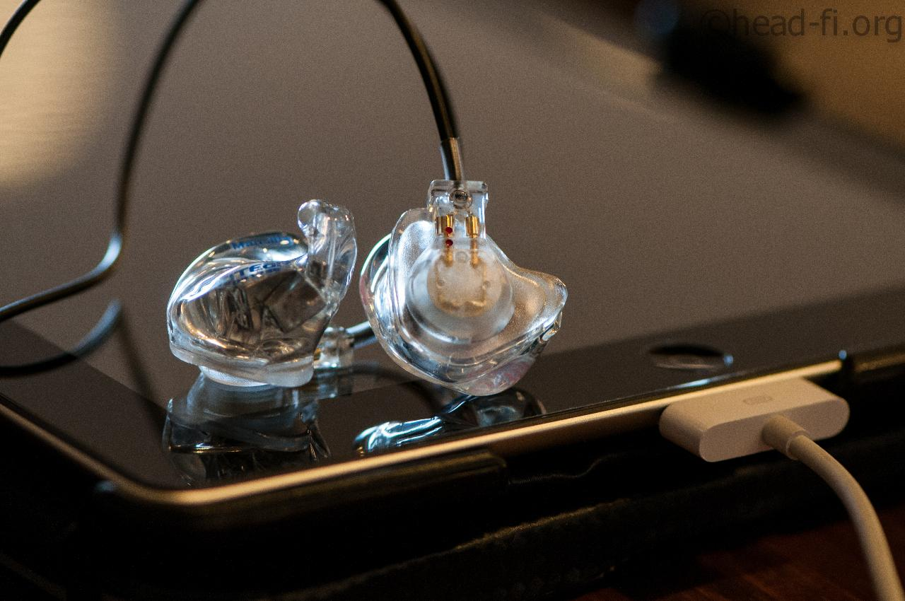 FitEar MH334 custom in-ear monitors, with an Apple iPad 64GB and Fostex HP-P1 (not in the photo).
