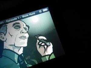 Dead pixels of the iPod Classic 7G 240GB from eBay,  Archer :D