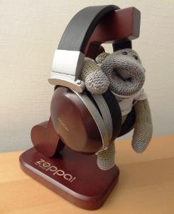 Chimp with my Denon AH-D2000 & AH-D5000 wood cups!