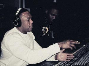 Audio-Technica ATH-M50s being worn by Dr. Dre.