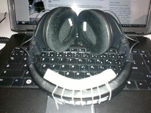 My pair of Shure SRH440 with the SRH940's velour pads. This picture shows the foam insert that...